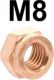 Copper nut M8, of 13 wrenches, for exhaust systems + exhaust manifolds. | Artnr: 60129 | Der Franzose - www.franzose.de
