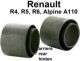 R4, bushing rear axle R4+R6, R5 Alpine..  2 fittings! inside 34mm, outside 50mm. Length inside 45mm, outside 39,5mm. | Artnr: 83034 | Der Franzose - www.franzose.de