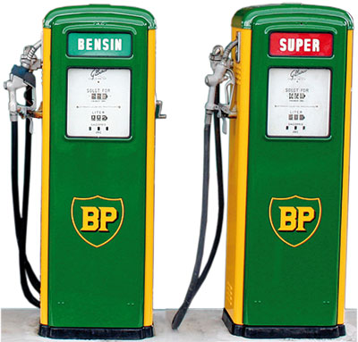 Zapfsäule BP 60er Jahre - Benzin Bensin Fuel