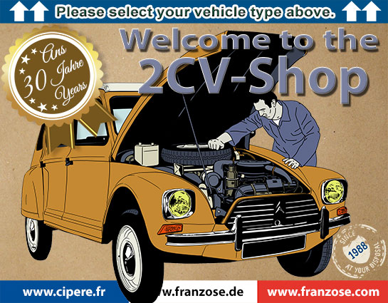 2CV-Shop | Welcome to Franzose de - your online shop for