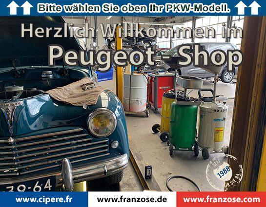 Peugeot Shop Deutsch Franzose 2021 welcome
