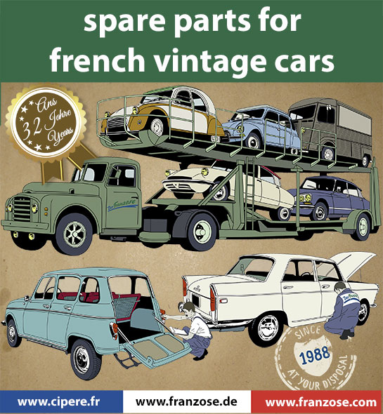 Spar-parts-for-french-vintage-cars-Citroen-Peugeot-Renault-franzose.com Welcome