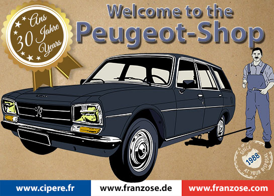 Peugeot Shop english Franzose 2018 welcome